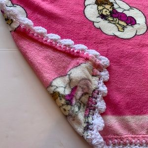 Precious Moments Other - Precious Moments Girl & Lamb Crotchet Baby Blanket